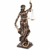 статуэтка фемида - богиня правосудия с позолотой (veronese) c позолотой