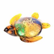 Фигурка черепахи из стекла декоративная