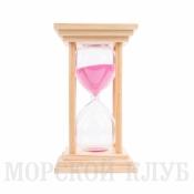 Часы песочные розовые 60мин