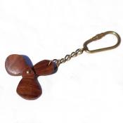 Брелок для ключей Винт корабля дерево
