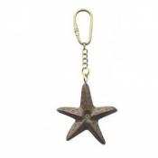 Брелок для ключей Звезда морская дерево