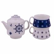 Чайный набор Штурвал (2 чашки и чайник)