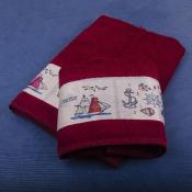 Набор полотенец Алые паруса в коробке № 4