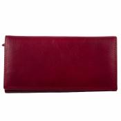 кошелек красный кожаный 19*10см