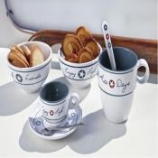 чашки для эспрессо с блюдцами enjoy life, 6шт