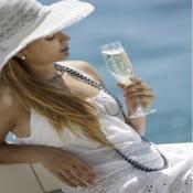 бокалы прозрачные нескользящие для шампанского welcome on board, 6 шт