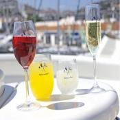 стаканы прозрачные нескользящие welcome on board  6шт