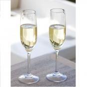 Бокалы прозрачные нескользящие для шампанского 6шт
