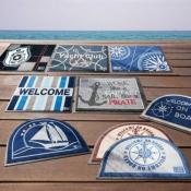 коврик на нескользящей основе welcome on board полукруглый (marine business)