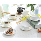 Чайный набор Тоскана на 6 персон белый (Pavone)