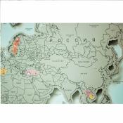 стирательная карта голубая 3d
