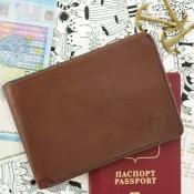 Дорожный кошелек Voyager коричневый