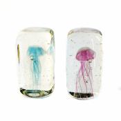 Медуза голубая в стекле 12см