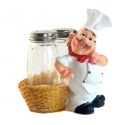 Набор соль перец на подставке Повар