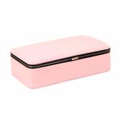 Шкатулка для украшений розовая прямоугольная
