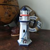 Декоративный маяк с чайкой 26см
