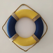 Спасательный круг 35см синий с желтым