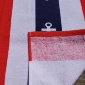 Полотенце пляжное Полоса с якорями 70*140см