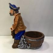 Подставка для бутылки Пират за штурвалом