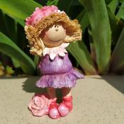 Фигурка девочки Розовый цветок