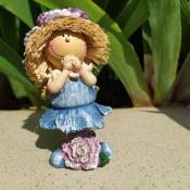 Фигурка девочки Фиолетовый цветок