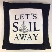 Декоративная подушка в морском стиле 40*40см