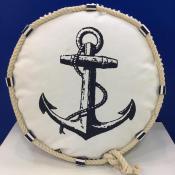 Подушка морская круглая Якорь