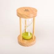 Часы песочные 60минут круглые с салатовым песком