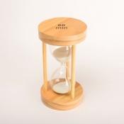 Часы песочные белые 60 минут круглые