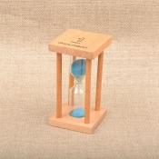 Песочные часы на 1 минуту с синим песком в колбе