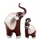 Статуэтка пары слонов в попоне