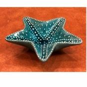 Конфетница Морская звезда малая голубая