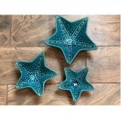 Конфетница Морская звезда голубая большая