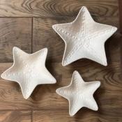 Конфетница Звезда морская белая средняя