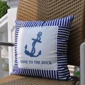 Подушка морская с якорем 40*40см