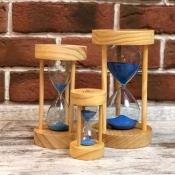 Песочные часы с синим песком на 5 мин