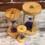 Песочные часы на 5 мин с песком фиолетовым