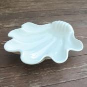 Тарелка Ракушка жемчужница белая 29см