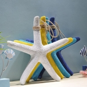 Морская звезда декор желтая 38см
