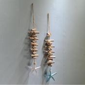 Подвеска декоративная морская звезда белая 60см