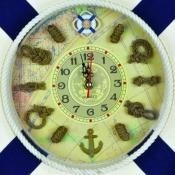 Часы настенные спасательный круг синий 35 см