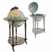 Глобус-бар напольный Da Vinci голубой