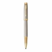 ручка роллер parker im premium warm silver (grey) gt
