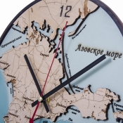 Часы настенные Карта Крыма глубинная 29см