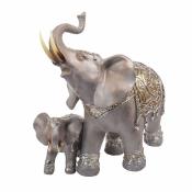 Статуэтка слоненок со слонихой 30см