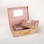 Шкатулка-чемоданчик золотого цвета 23см