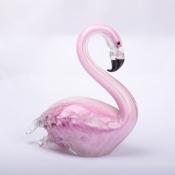 Статуэтка розового фламинго стекло