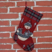 Сапожок для подарков новогодний Снеговик 49*28см