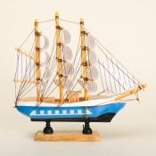 Деревянная модель парусника 20см