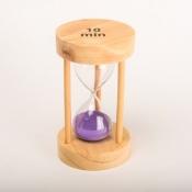 Часы песочные фиолетовые 10мин круглые